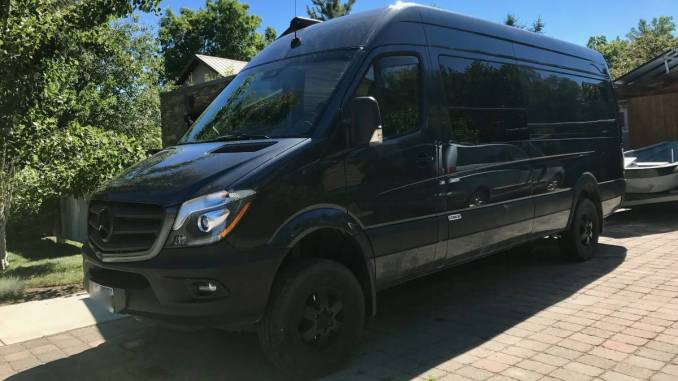 2015 Mercedes Sprinter 4X4 Converted Cargo Van Camper In Bozeman MT